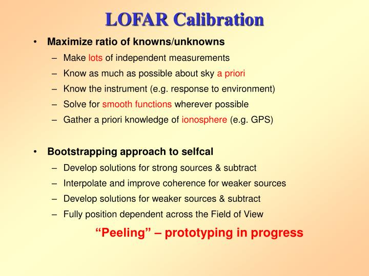 LOFAR Calibration