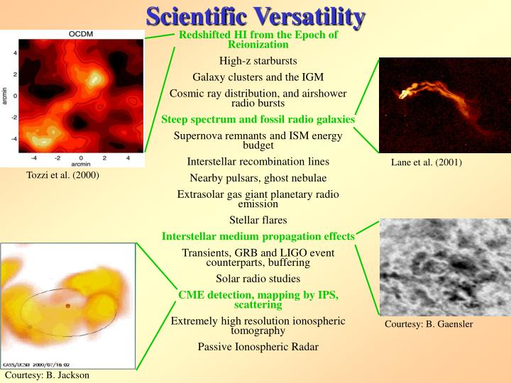 Scientific Versatility