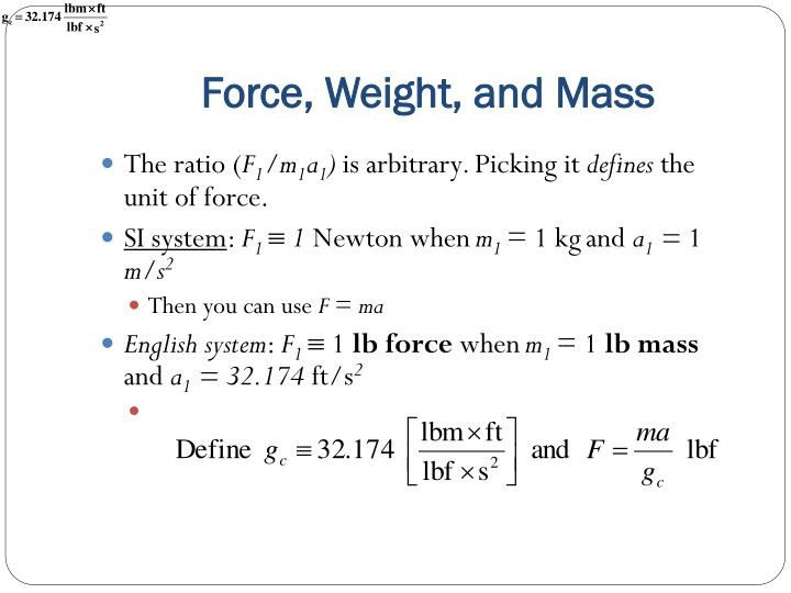 Force, Weight, and Mass