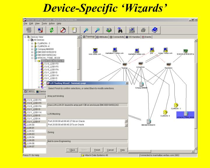 Device-Specific 'Wizards'