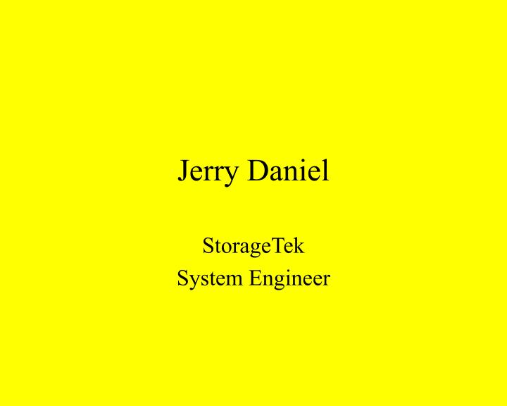 Jerry Daniel