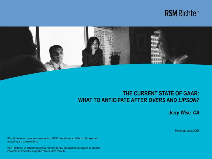 The current state of gaar what to anticipate after overs and lipson jerry wise ca