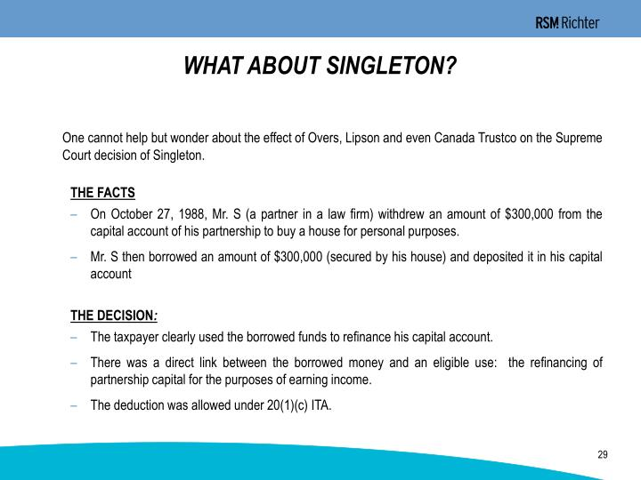 WHAT ABOUT SINGLETON?