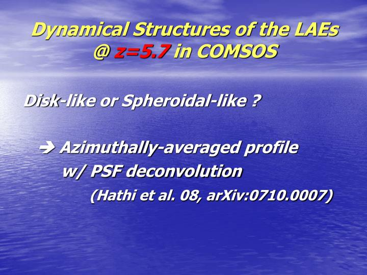 Dynamical Structures of the LAEs