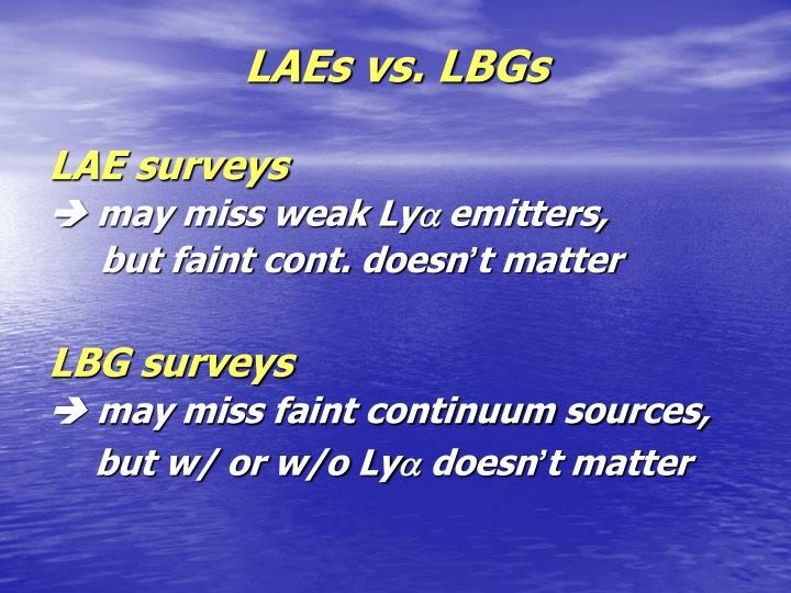 Laes vs lbgs