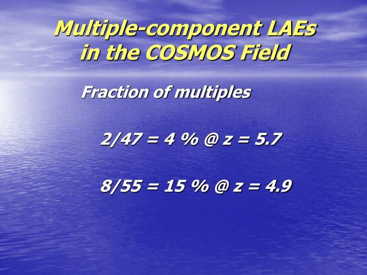 Multiple-component LAEs