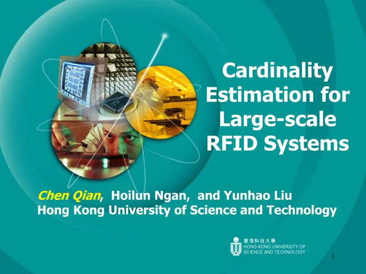 cardinality estimation for large scale rfid systems n.