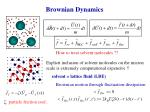 brownian dynamics