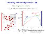 thermally driven migration in lbe
