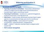 widening participation ii