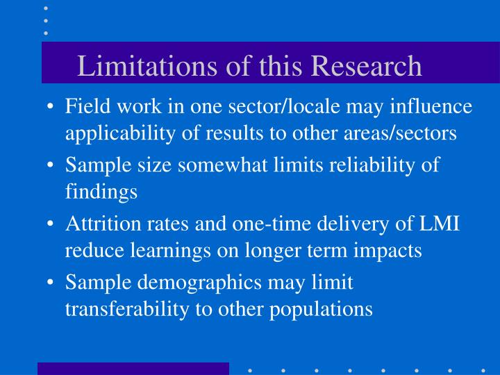 Limitations of this Research
