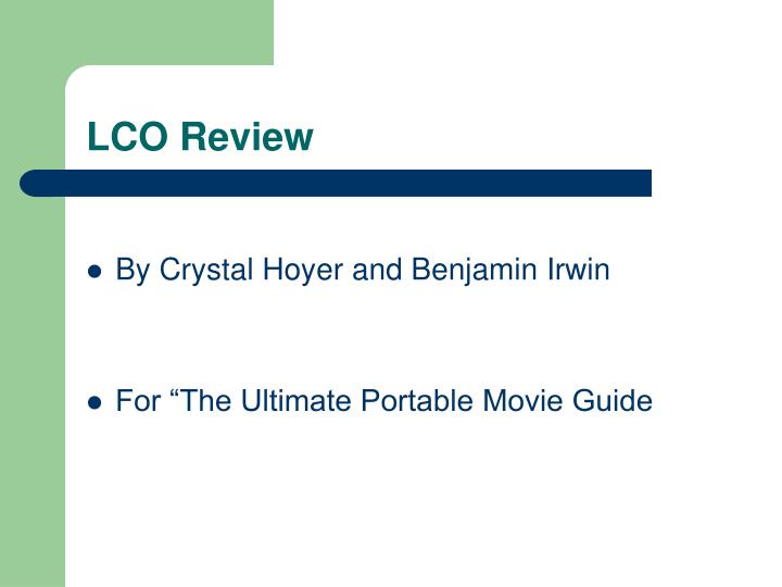 Lco review