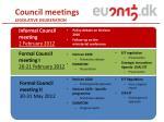 council meetings legislative deliberation
