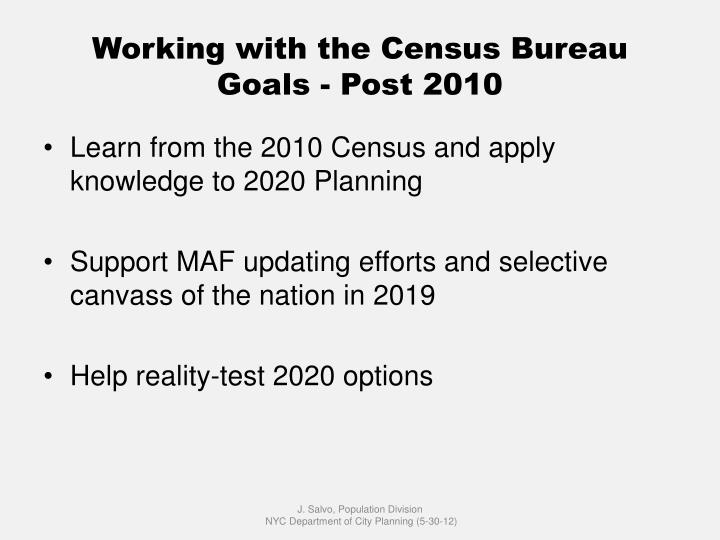 Working with the Census Bureau