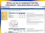 where can we or employers find this information www deed state mn us lmi