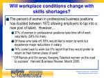 will workplace conditions change with skills shortages