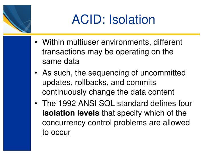 ACID: Isolation