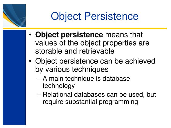 Object Persistence