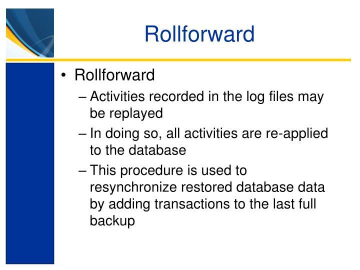 Rollforward