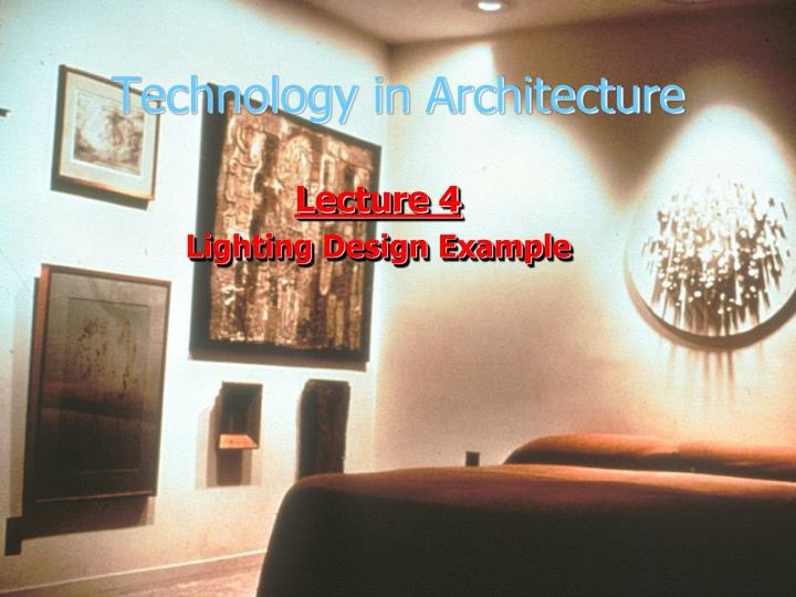 technology in architecture n.