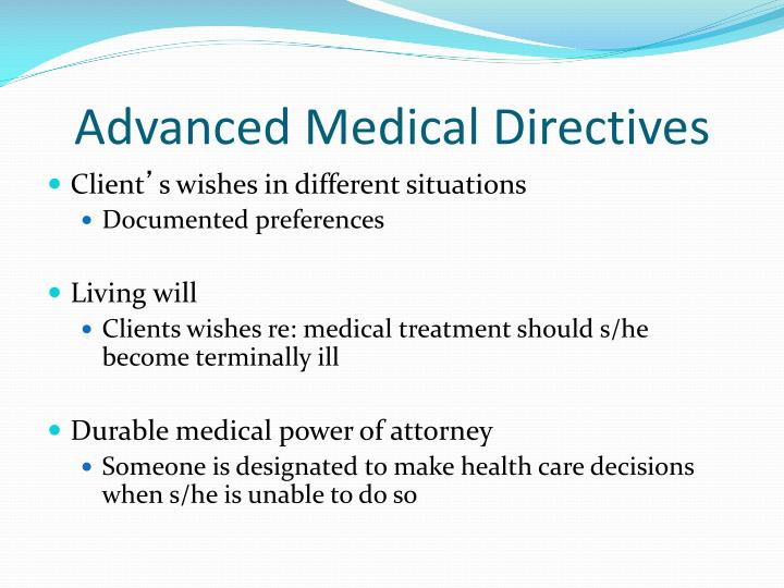 Advanced Medical Directives