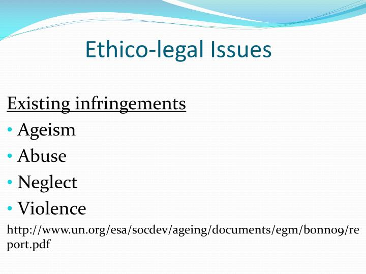 Ethico-legal Issues