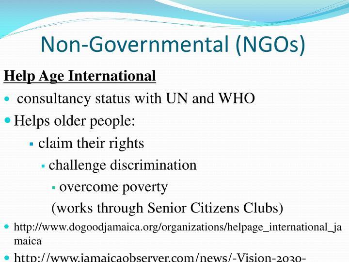 Non-Governmental (NGOs)