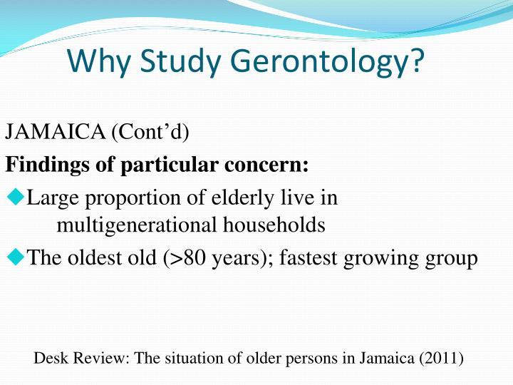 Why Study Gerontology?