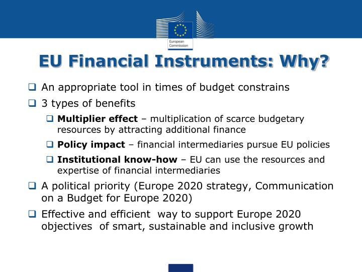 Eu financial instruments why