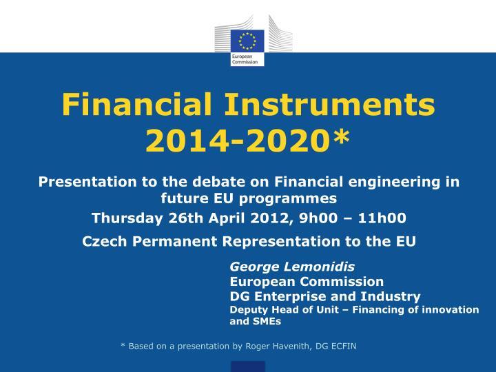 Financial instruments 2014 2020