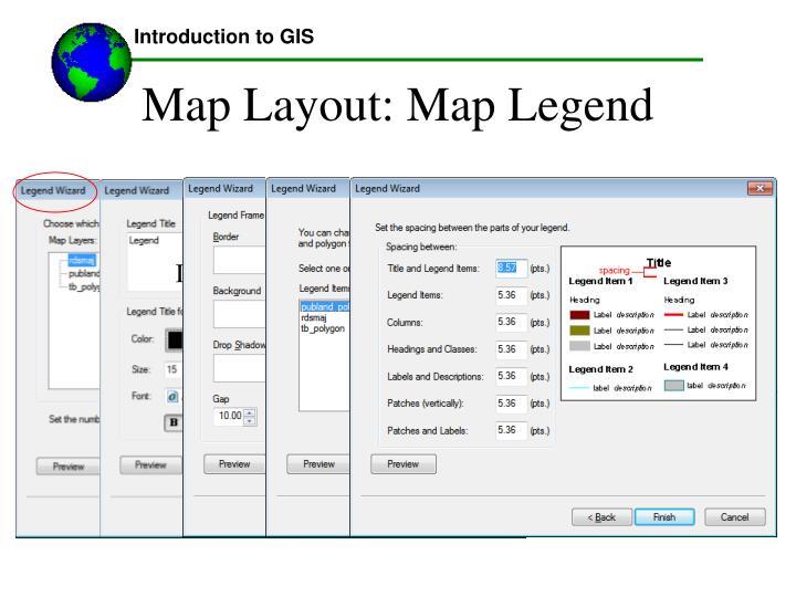 Map Layout: Map Legend