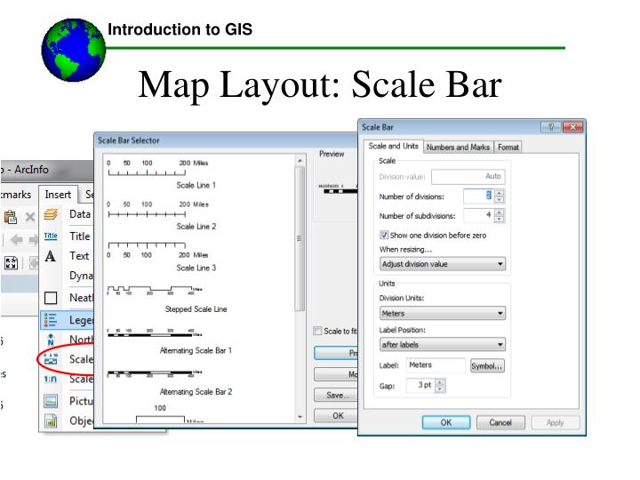 Map Layout: Scale Bar