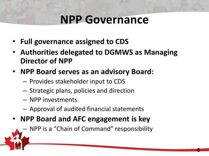 NPP Governance