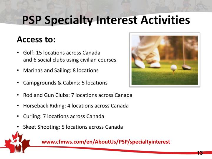 PSP Specialty Interest Activities