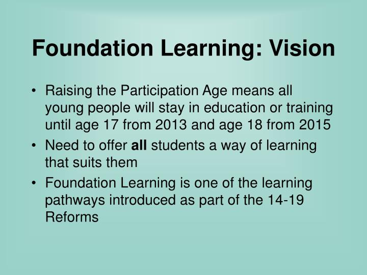 Foundation Learning: Vision
