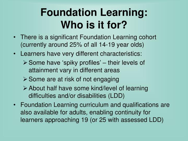 Foundation Learning: