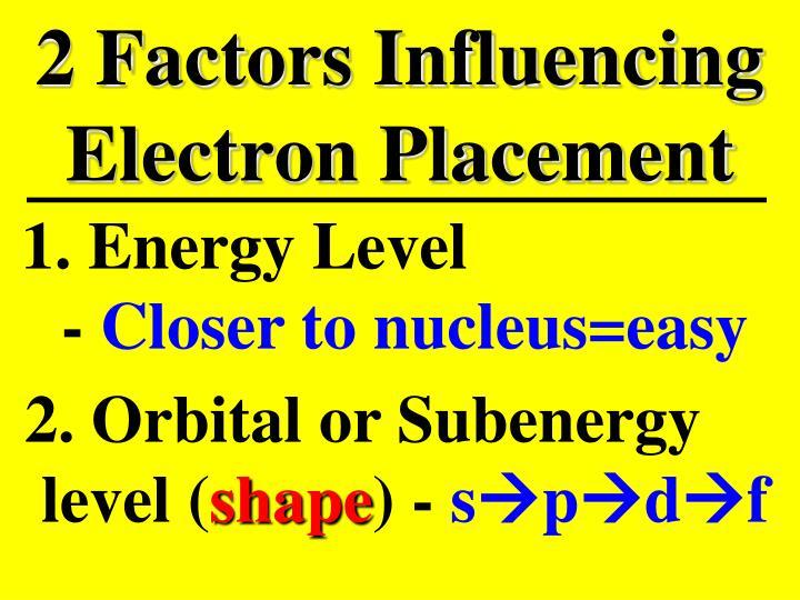 2 Factors Influencing Electron Placement