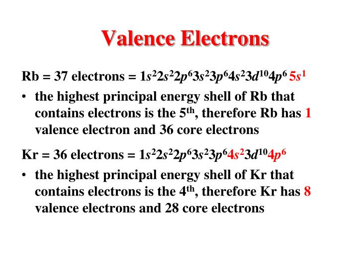 Valence Electrons