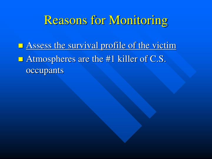 Reasons for Monitoring