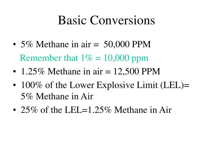Basic Conversions