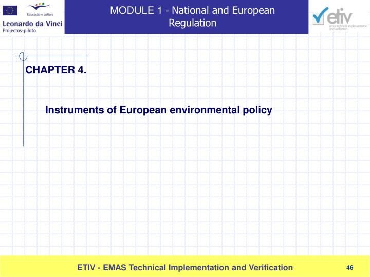 Instruments of European environmental policy