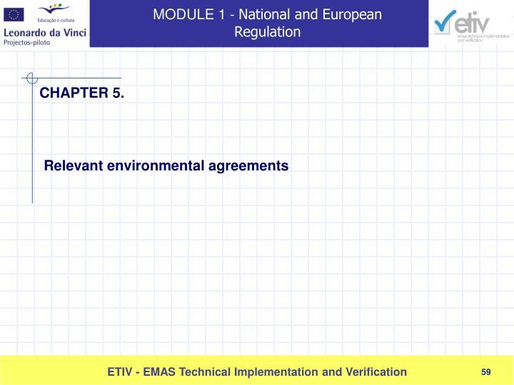 Relevant environmental agreements