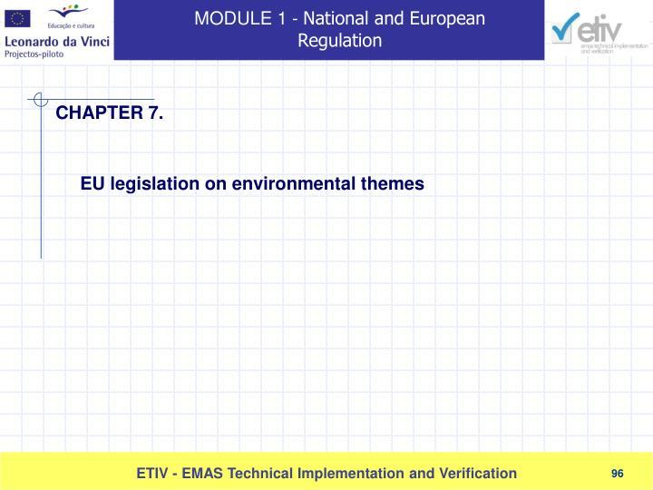 EU legislation on environmental themes