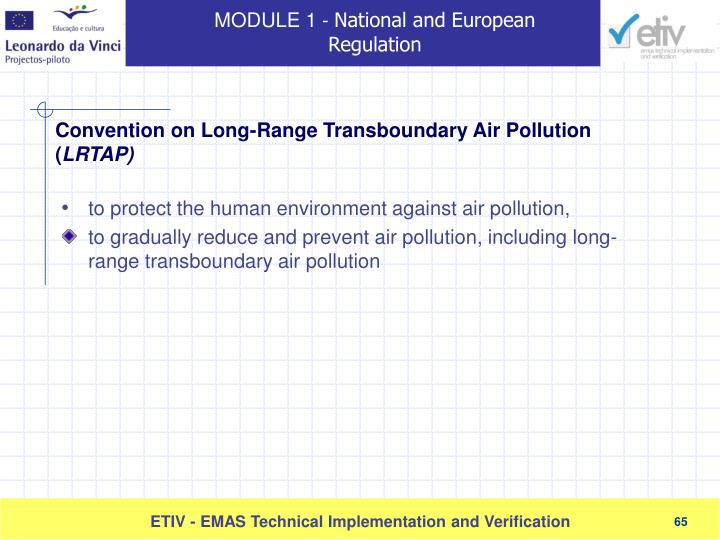 to protect the human environment against air pollution
