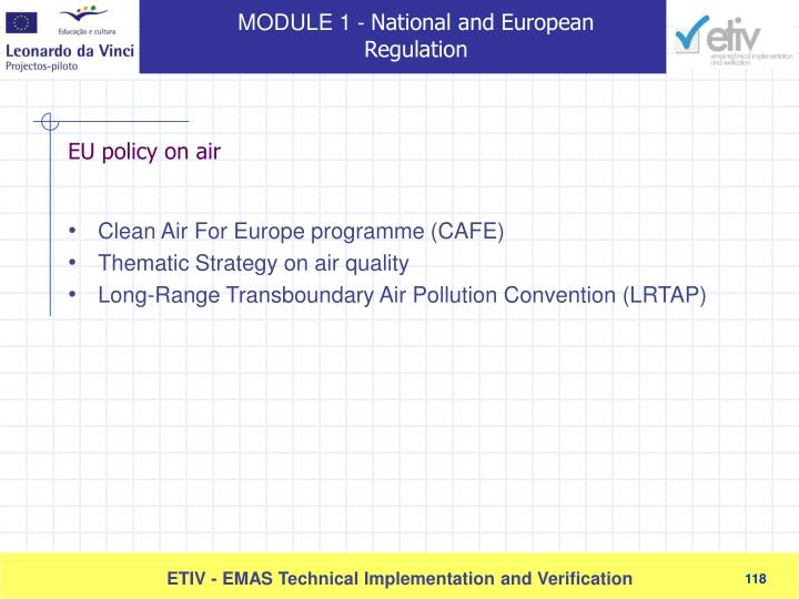 Clean Air For Europe programme (CAF