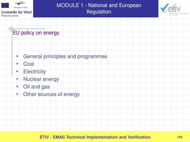 General principles and programmes