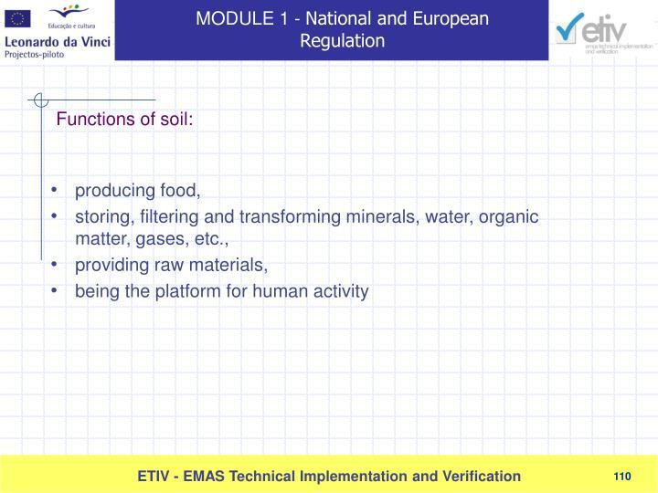 producing food,