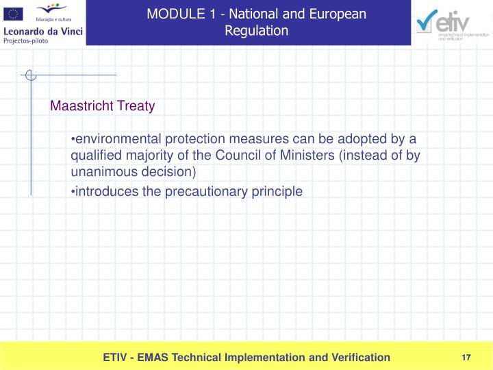 environmental protection measures can be adopted by a qualified majority of the Council of Ministers