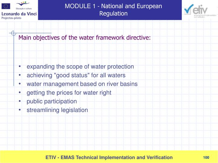 expanding the scope of water protection