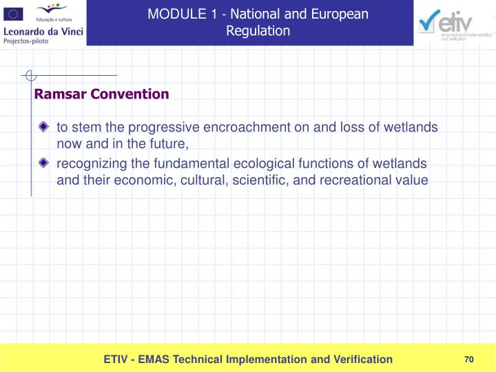 to stem the progressive encroachment on and loss of wetlands now and in the future,